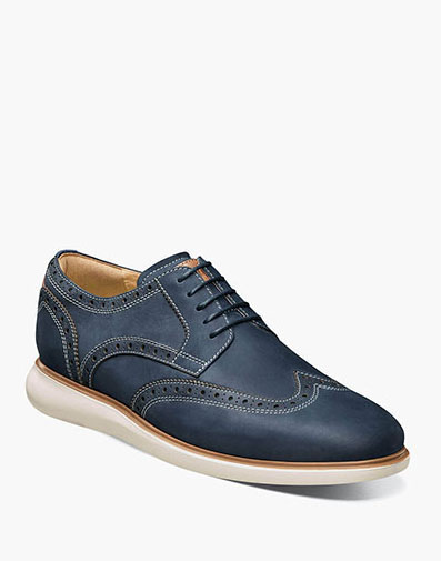 Fuel Wingtip Oxford in Indigo for $120.00