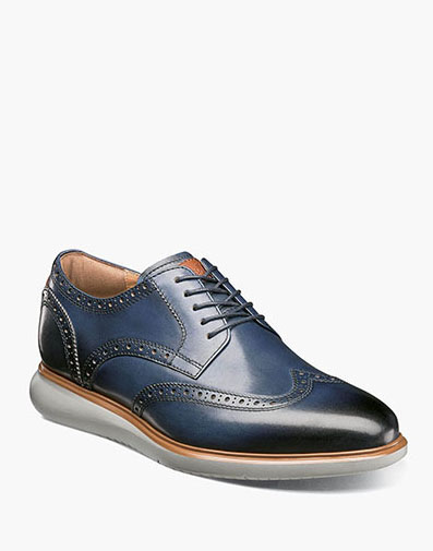 Fuel Wingtip Oxford in Navy for $120.00