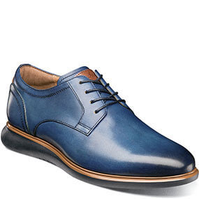Fuel Plain Toe Oxford in Navy for 120.00 dollars.