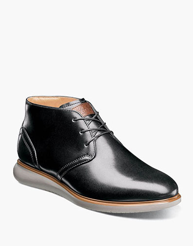 Fuel Plain Toe Chukka Boot in Black for 125.00 dollars.