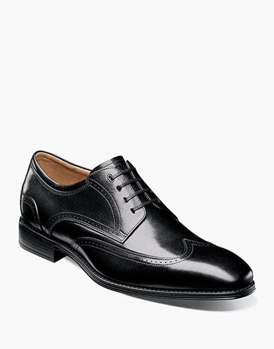 Amelio Wingtip Oxford in Black for 59.90 dollars.
