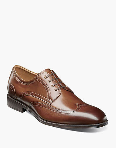 Amelio Wingtip Oxford in Cognac for $79.90