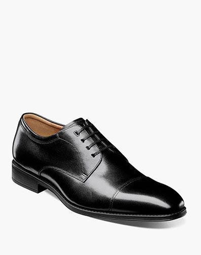 Amelio Cap Toe Oxford in Black for 115.00 dollars.