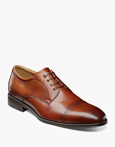 Amelio Cap Toe Oxford in Cognac for $110.00