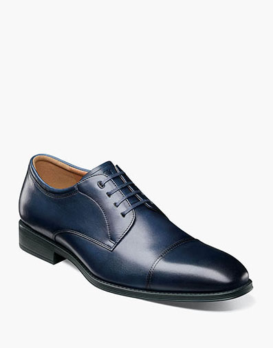 Amelio Cap Toe Oxford in Navy for 89.90 dollars.