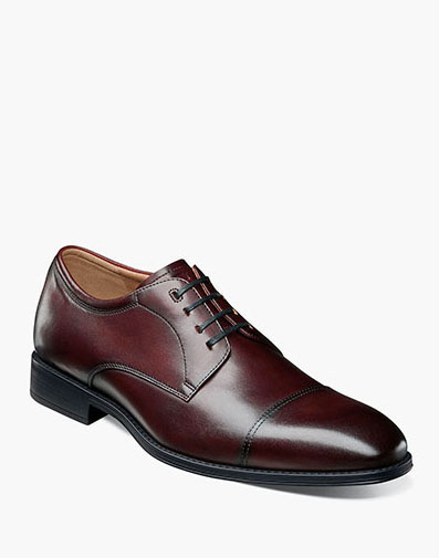 Amelio Cap Toe Oxford in Burgundy for 115.00 dollars.