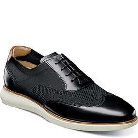Fuel Knit Wingtip Oxford in Black for $120.00
