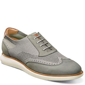 Fuel Knit Wingtip Oxford in Light Gray for $120.00