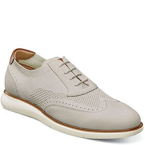 Fuel Knit Wingtip Oxford in Bone for $120.00