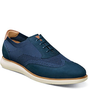 Fuel Knit Wingtip Oxford in Indigo for $120.00