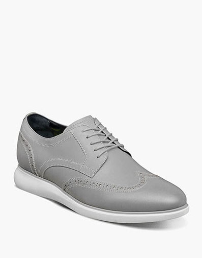 Florsheim Fuel Reflect Iridescent Wingtip Oxford in Silver for $195.