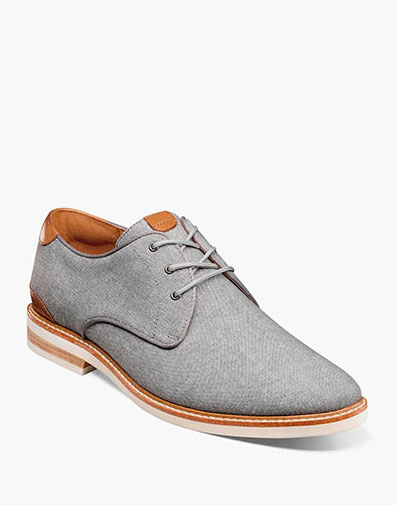 Highland Canvas Plain Toe Oxford in Gray.
