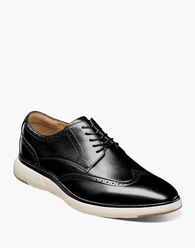 Flair Wingtip Oxford in Black with White.
