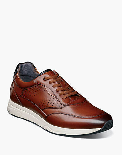 Formula Moc Toe Lace Up Sneaker in Cognac.