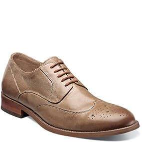 Rockit Wingtip Oxford in Taupe for $59.90
