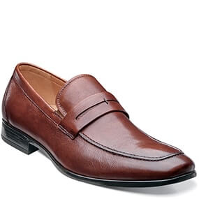 Burbank Moc Toe Penny Loafer in Cognac for $89.90