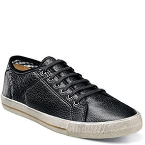 Flash  Plain Toe Lace Up in Black Tumbled for $59.90