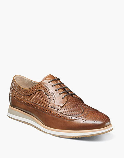 Flux  Wingtip Oxford in Saddle Tan for $99.90