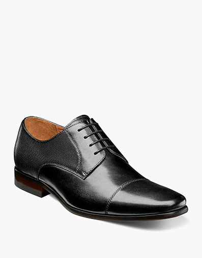 Postino  Cap Toe Oxford in Black for $110.00