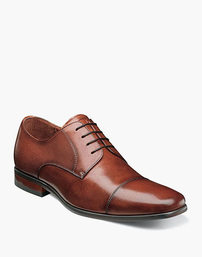 Postino  Cap Toe Oxford in Cognac for 115.00 dollars.