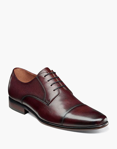 Postino  Cap Toe Oxford in Burgundy for 115.00 dollars.