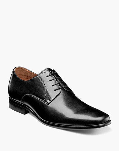 Postino  Plain Toe Oxford in Black Smooth for $110.00