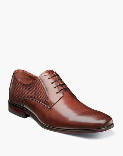 Postino  Plain Toe Oxford in Cognac for $110.00