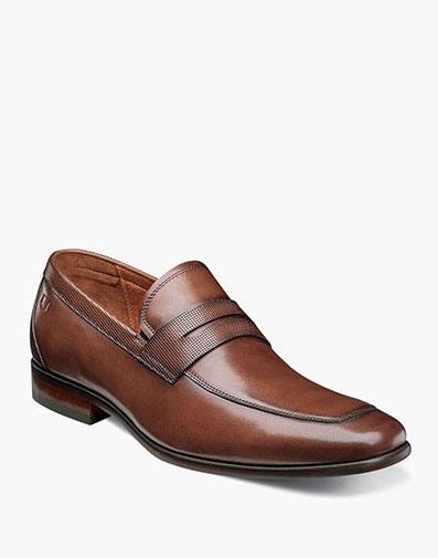 Postino Moc Toe Penny Loafer in Cognac for $110.00