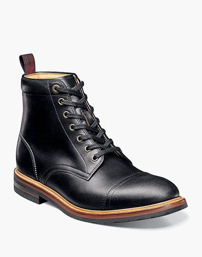 Foundry Cap Toe Boot in Black for $280.00