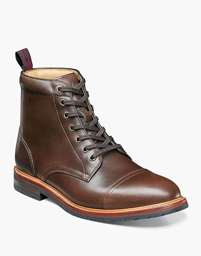 Foundry Cap Toe Boot in Brown for $280.00