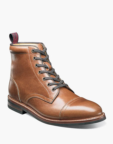 Foundry Cap Toe Boot in Saddle Tan for $280.00