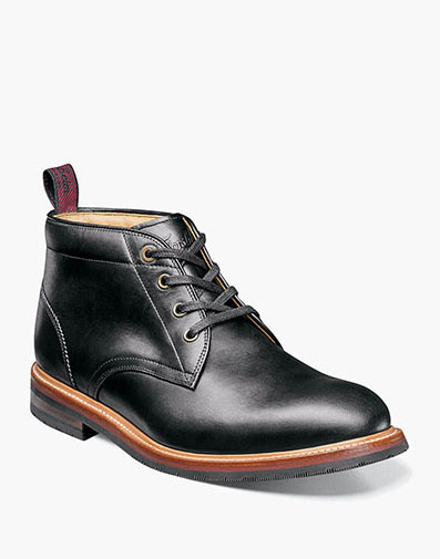 Foundry Plain Toe Chukka Boot in Black for $280.00