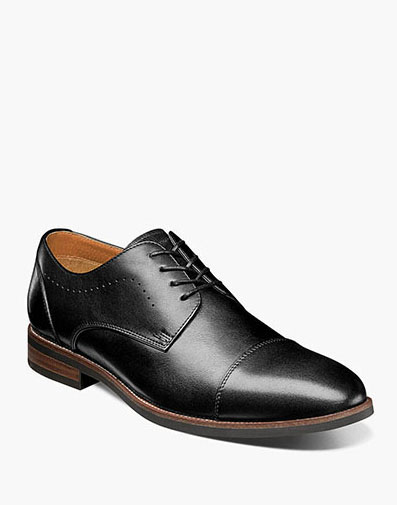 Uptown Cap Toe Oxford in Black for 115.00 dollars.