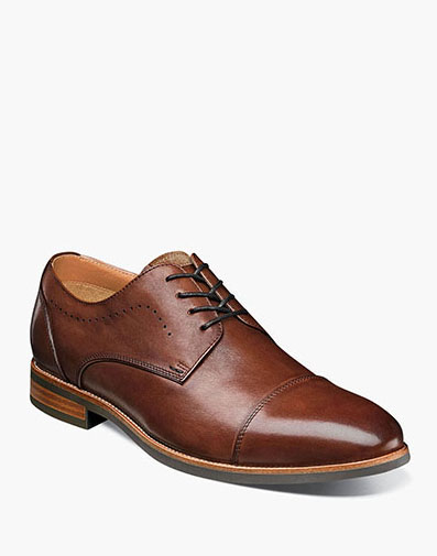Uptown Cap Toe Oxford in Cognac for $110.00
