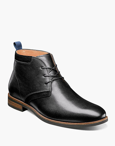 Uptown Plain Toe Chukka Boot in Black for 125.00 dollars.