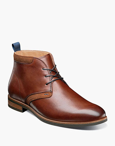 Uptown Plain Toe Chukka Boot in Cognac for $120.00