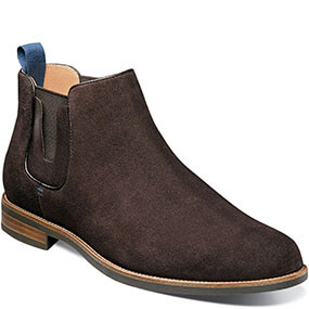 Uptown Plain Toe Gore Boot in Brown Suede for 99.90 dollars.