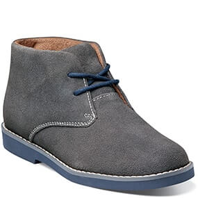 Quinlan Jr. Plain Toe Chukka Boot in Gray Suede for $49.90