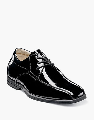 Reveal Jr. Bike Toe Oxford  in Black Patent for $60.00