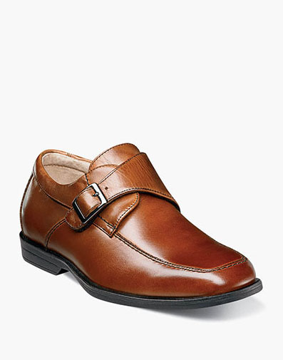 Reveal Jr. Moc Toe Monk Strap Oxford in Cognac for $60.00