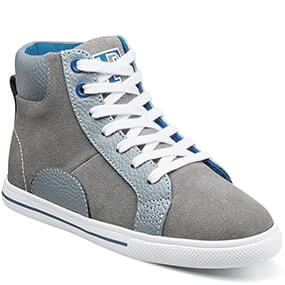 Varsity High Jr. Plain Toe Lace Up Sneaker  in Gray for $39.90