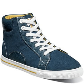 Varsity High Jr. Plain Toe Lace Up Sneaker  in Navy for $39.90