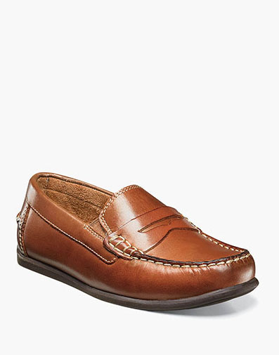 Jasper Jr. Moc Toe Penny Driver in Saddle Tan for 59.95 dollars.