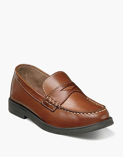 Croquet Jr. Moc Toe Penny Loafer in Saddle Tan for $55.00