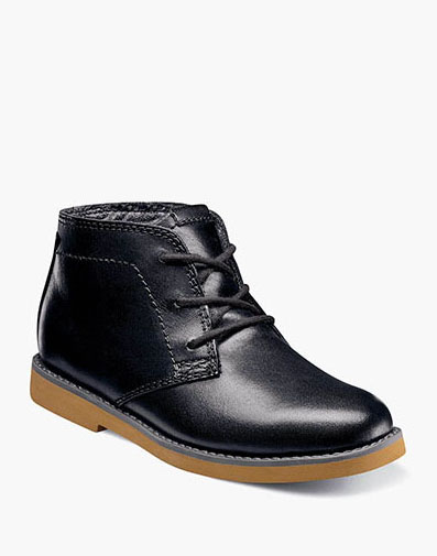 Bucktown Jr. Plain Toe Chukka Boot in Black Smooth for 65.00 dollars.