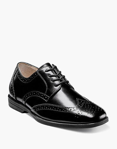 Reveal Jr. Wingtip Oxford  in Black for $60.00