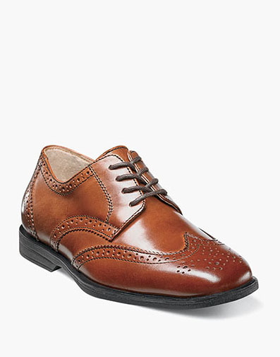 Reveal Jr. Wingtip Oxford  in Cognac for $60.00