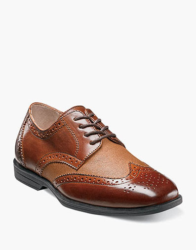Reveal Jr. Wingtip Oxford  in Cognac w/Linen for $60.00