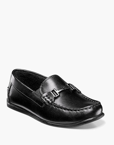 Jasper Jr. Moc Toe Bit Loafer in Black for 59.95 dollars.