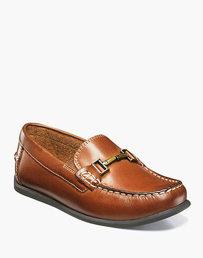 Jasper Jr. Moc Toe Bit Loafer in Saddle Tan for 59.95 dollars.